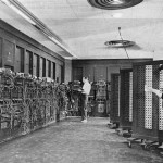 ENIAC was the first Turing-complete device,and performed ballistics trajectory calculations for the United States Army.