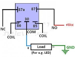 Connection of an SPDT Relay to Load