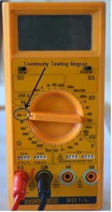 Continuity Testing using Multimeter