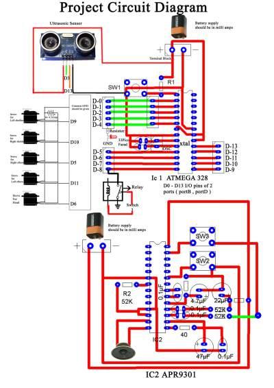 Circuit Diagram of namaste robot