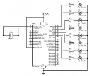 Blinking-LED-using-PIC-Microcontroller-Circuit-Diagram