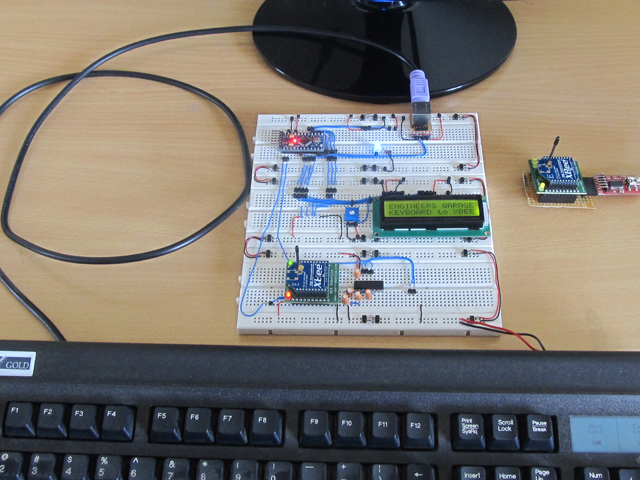 Make a Wireless Keyboard Using Xbee with Arduino