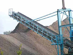 In the above conveyor belt is used to transport material as well as to drive the rollers