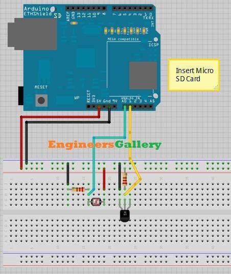 arduino temperature logger