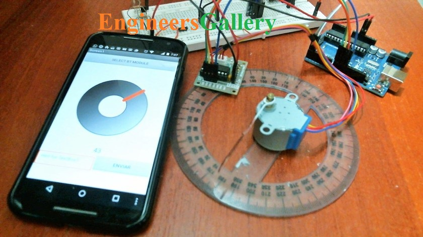 stepper motor using android app