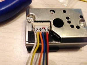 Pin numbering on the Sensor