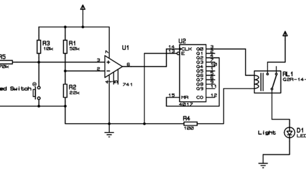 automatic bathroom light switch circuit diagram and