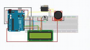 Servo Angle LCD screen Push the joystick