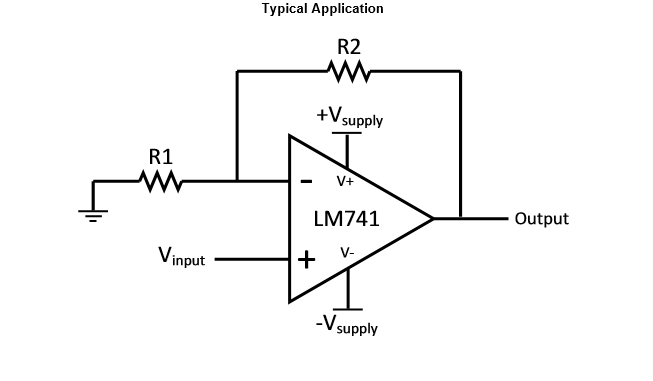 vibration sensor circuit and op