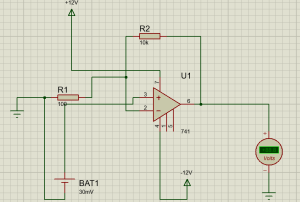 Vibration Sensor Circuit and OP-AMP 741 4