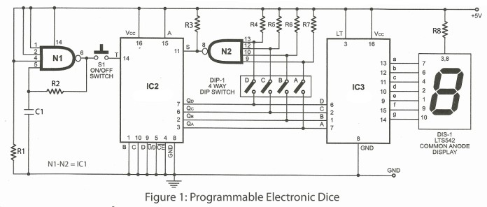 programmable electronics dice project