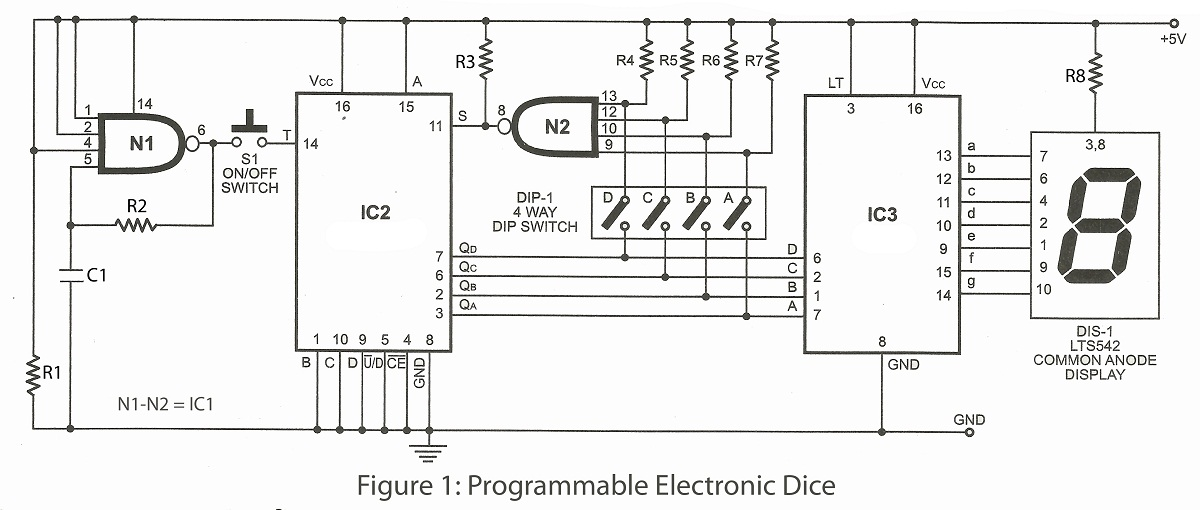 Excellent An Electronic Dice Schematic An Electronic Dice Using Atmega8 Wiring Digital Resources Biosshebarightsorg