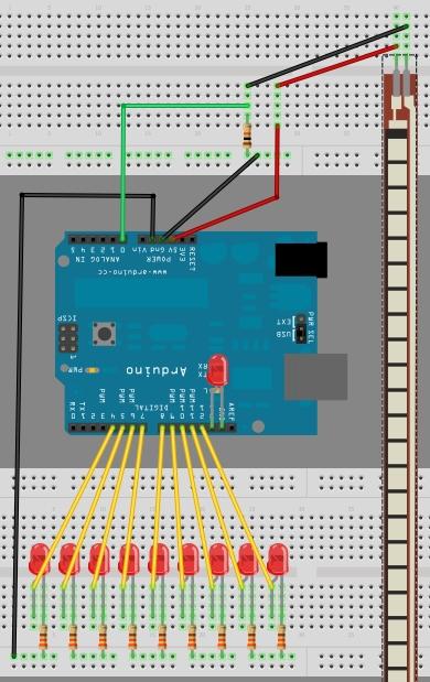 Arduino UNO: Flex Sensor and LEDs