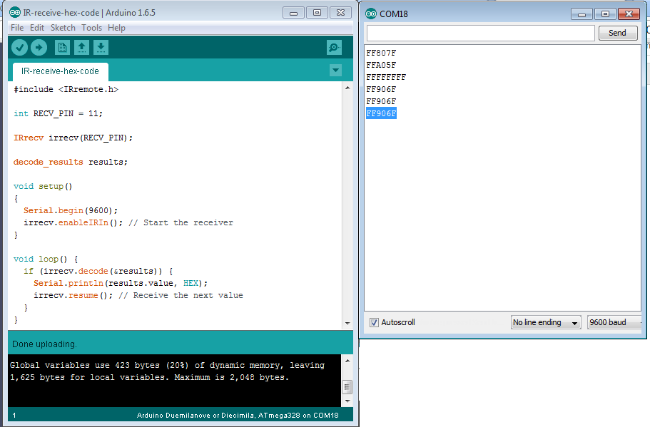Arduino Ir Code Library - reneescouk