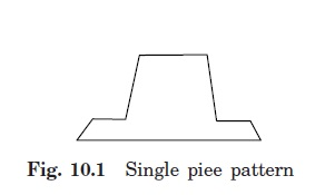 Single-piece or solid pattern