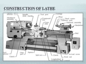 CONSTRUCTION OF LATHE MACHINE